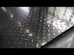 Лист алюминиевый рифленый квинтет чечевица
