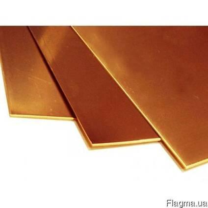 Лист бронзовый 8,0 мм - 0,3х0,56м БРОФ6,5-0,15