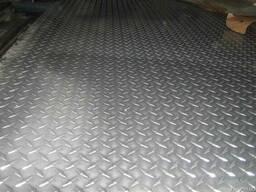 Алюминий лист рифл АД0 1мм, 1000*2000 мм