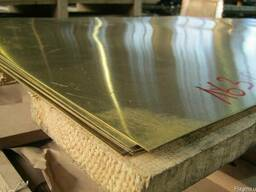 Лист латунный 0,5х1000х2000 мм Л63 мягкий