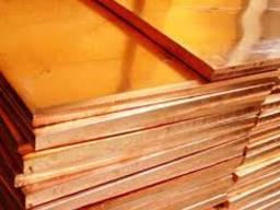 Латунный лист Л63 толщина 1. 5 мм 600х1500мм. 2000х1000мм.