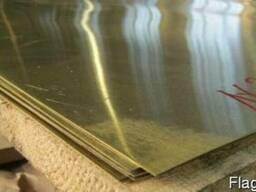 Лист латунный Л63 1,2х1000х2000 мм. Купить. Цена