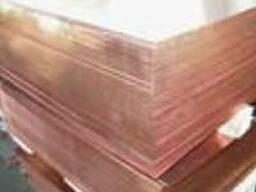 Лист мідний М1Т 0, 8х600х1500