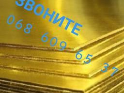 Лист латунный 600х1500х2 мм ЛС59