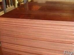 Латунный лист Л63, ЛС59 (мягкий, птв, тв) 1.8х600х1500мм ГОС