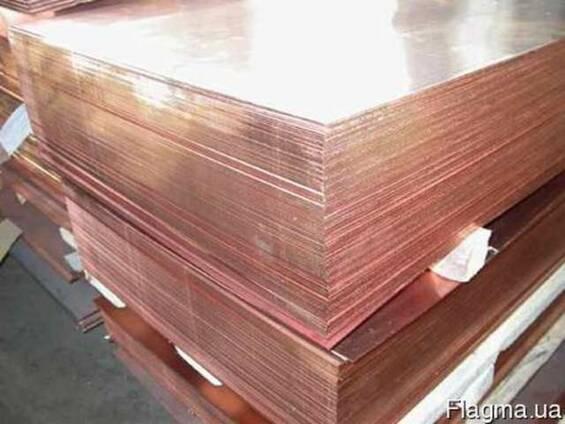 Медный лист М2 п/тв 2,0Х600Х1500
