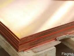 Медный лист М2 медь опт и розница от 1 метра