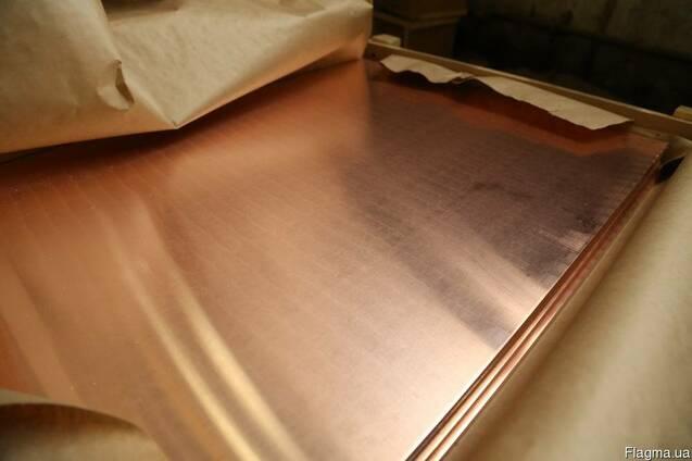 Лист медный 0,65 мм - 0,6х1,5м