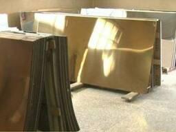 """Нержавеющий лист с покрытием """"под золото"""" 0, 8х1000х2000мм"""