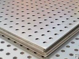 Лист нержавеющий 0,7 мм перфорированый AISI 321