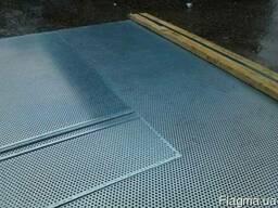 Нержавеющий перфолист 1мм толщина 3мм отверстие 5мм шаг