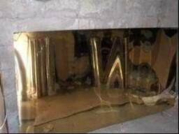 Лист нержавеющий полированный под золото 0,5х1000х2000 мм