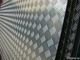 Лист алюминиевый рифлёный квинтет 5х1250х2500 мм марка 1050Н
