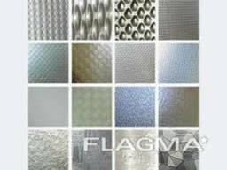 Лист н/ж декоративный AISI 304 1, 0 (1, 25х2, 5) кожа+PVC. ..