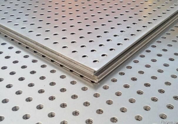Перфорированный лист ф3 мм, 0,75х1000х2000 мм, оцинк. цена,