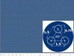 Перфорированый лист SPA Rv0, 75-1, 5/0, 6/1000x2000
