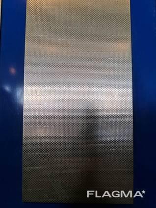 Лист техничка нержавейка AISI 430 (12Х17) декор лен 0,8мм