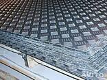 Лист рифленый 1,0 2B AISI 304 стали, 1,2, 1,5, 2,0, 3,0, 4,0 - фото 1