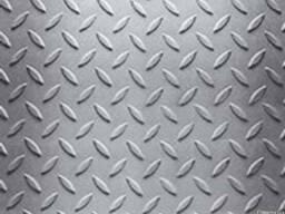 Лист рифленый 1мм - 8мм 1х2м 1,25х2,5м 1,5х3м 1,5х6м порізка