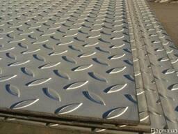 Алюминиевый рифленый лист «даймонд» АД0, АД1, А5 ( Н22, Н24)
