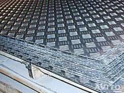 Листы алюминиевые рифленные 1 мм, 1,5 мм , 2.0 мм, 3.0 мм.