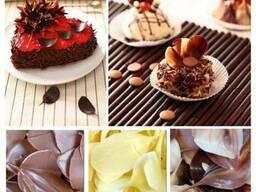 Листья шоколадные из бельгийского шоколада, шоколадный декор