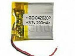 Литий-полимерный аккумулятор 4*20*20mm (Li-ion 3.7В 200мА·ч)
