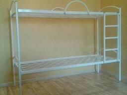 Ліжко двоярусне з металевими спинками 1900*900 см