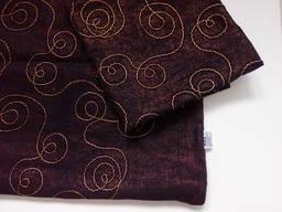 Льняна декоративна подушка – чохол «Black gold»