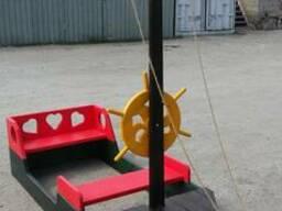 Корабль-песочница для детской площадки