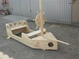 Корабль-песочница для детской площадки - фото 3