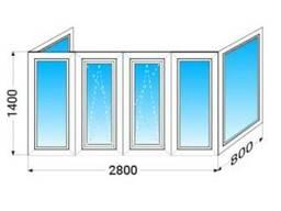 Лоджия (балкон) ПВХ П-образный Lider (3 кам) с 1-камерным. ..