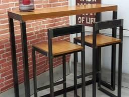 Лофт комплект меблів, комплект на замовлення, лофт стіл, стілець