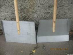 Лопата для снега дюраль с держаком