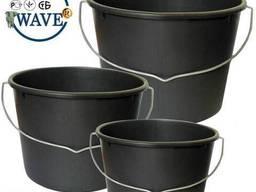 Ведро 16 14 12 10 8 5 вёдра хозяйственные черные мерные технические поастик