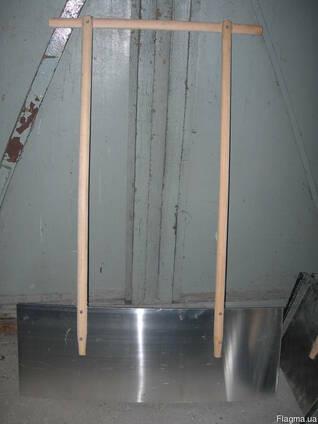 Лопаты для снега дюралевые сдвоенные 1000ммх400 мм х2-3мм