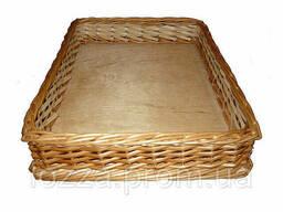 Лотки плетеные (30*40*5) короба, корзины торговые