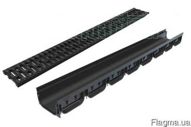 Лоток водоотводной пластиковый с решеткой (комплект Spark)