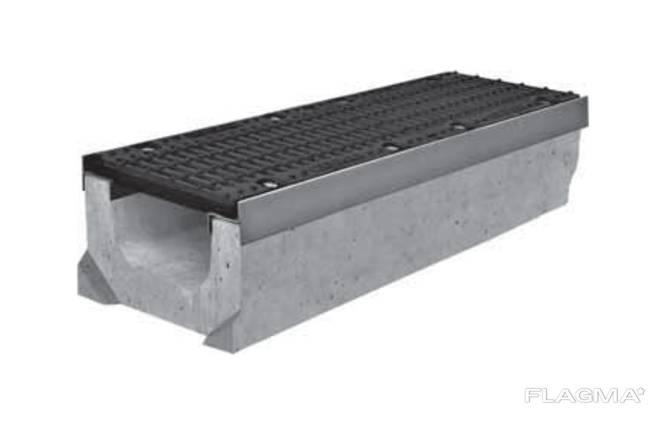 Лоток водоотводный ЛВ-20.30.23 бетонный с решеткой щелевой чугунной ВЧ (комплект)