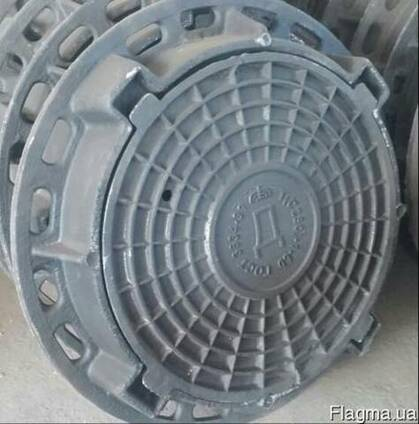 Люк канализационный чугунный тип Т (25 тн. )