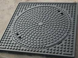 Люк канализационный квадратный тяжелый магистральный тип. ..