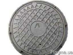 Люк канализационный легкий тип чугунный Л (75кг)