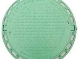 Люк канализационный полимер. садовый (зелёный) 1т с замками