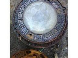 Люк канализационный тяжелый С250 с бетонным наполнением