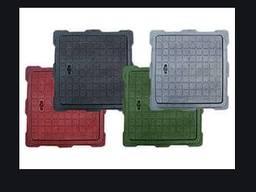 Люк пластиковый квадратный 680х680 с замком цветной