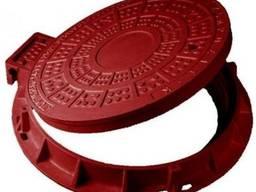 Люк пластмассовый легкий №3 (теракотовый, красный)
