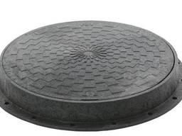 Люк полимерный обзорных колодцев, 3т, черный, с з/п