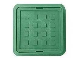 Люк полимерпесчанный квадратный 710х710 с замком А15 (зелёны