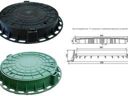 Люк садовий пластмасовий легкий №2 (чорний) із замком