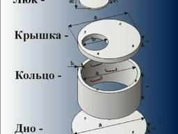 Крышка бетонная для колодца, канализации жби в Харькове